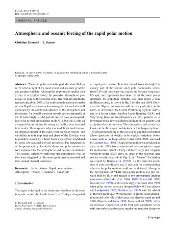 Atmospheric and oceanic forcing of the rapid polar motion