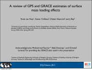 A review of GPS and GRACE estimates of surface mass loading effects