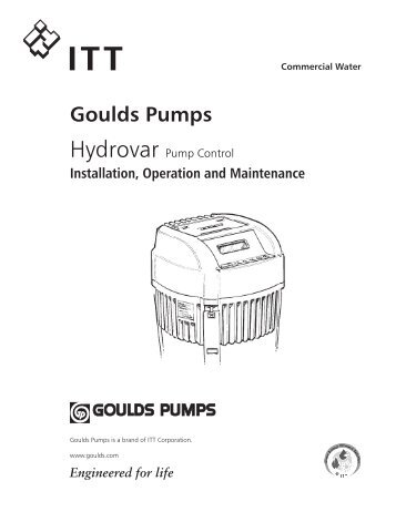 Hydrovar Pump Controller Installation & Operation Manual