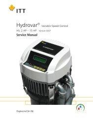 Hydrovar Pump Controller Service Manual