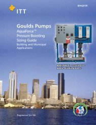 AquaForce Booster System Sizing Brochure