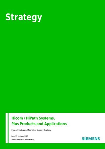 Technical Support Strategy For Hicom Systems and ... - Nimans