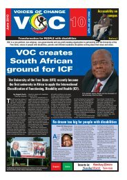 VOC creates South African ground for ICF - Faculty of Health ...