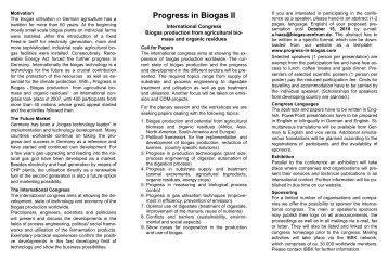 Progress in Biogas II - IBBK
