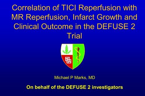 DEFUSE 2 Interventional Procedures Vascular Imaging Evaluation