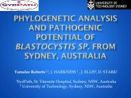 Phylogenetic Analysis and Pathogenic Potential of Blastocystis sp ...