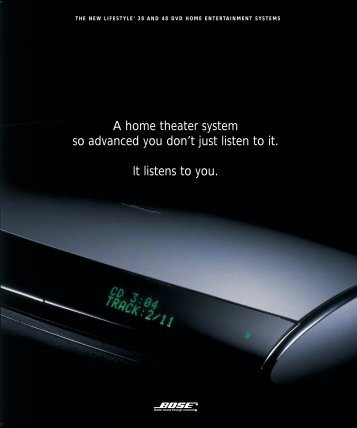 A home theater system so advanced you don't just listen ... - One Call