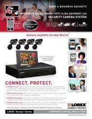 LOREX LH600 Series SPEC SHEET - One Call