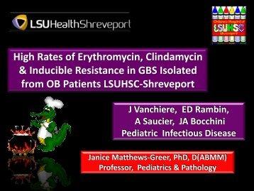 High Rates of Erythromycin, Clindamycin & Inducible Resistance in ...
