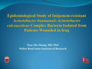 Epidemiological Study of Imipenem-resistant Acinetobacter ...