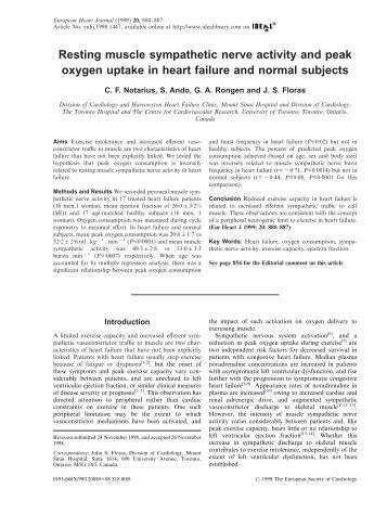 Resting muscle sympathetic nerve activity and peak oxygen uptake ...