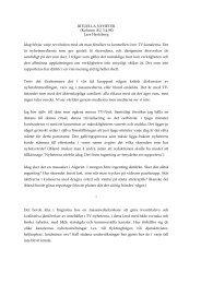 RITUELLA NYHETER (Kolumn ÅU 3.4.98) Lars Hertzberg Idag ...