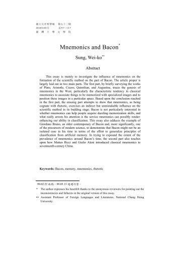 Mnemonics and Bacon