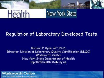 Regulation of Laboratory Developed Tests