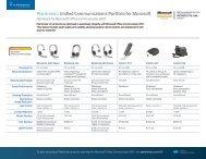 Plantronics Unified Communications Portfolio for Microsoft
