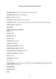 India Tourism Development Corporation Limited ... - Imimg