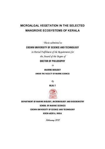 Ph.D Thesis.pdf - Dyuthi Home - Cochin University of Science and ...
