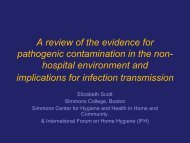 A review of the evidence for pathogenic contamination in the non ...