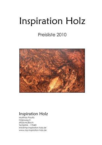 preisliste 2010 - freese holz - Menz Holz Katalog
