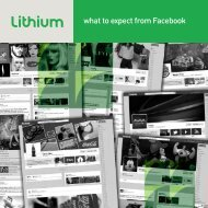 What To Expect from Facebook - Lithium