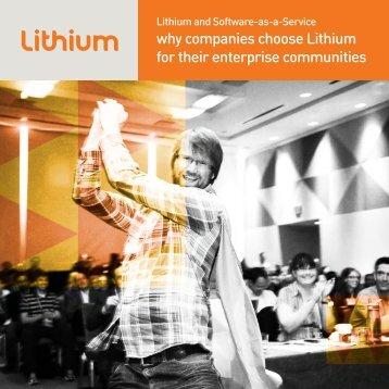 why companies choose Lithium for their enterprise communities ...