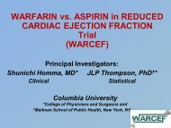 Warfarin vs. Asprin in Reduced Ejection Fraction