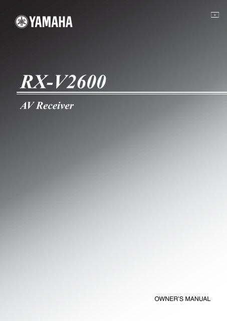 RX-V2600 - Electronic Warehouse