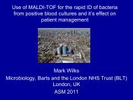 Use of MALDI-TOF for the rapid identification of bacteria from ...