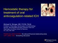 Hemostatic therapy for treatment of oral anticoagulation-related ICH