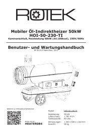 Benutzer- und Wartungshandbuch Mobiler Öl-Indirektheizer ... - Rotek
