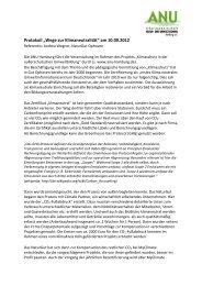 """Protokoll """"Wege zur Klimaneutralität"""" am 10.09.2012 - ANU Hamburg"""