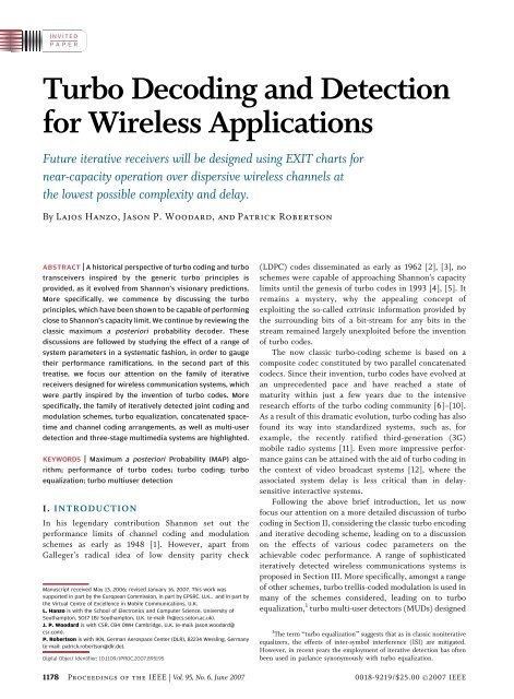 Turbo Decoding and Detection for Wireless Applications