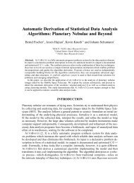 Automatic Derivation of Statistical Data Analysis Algorithms ...