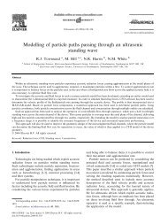 Modelling of particle paths passing through an ultrasonic standing ...