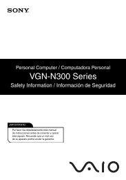 VGN-N300 Series - Sony