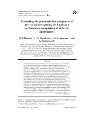 Evaluating the pronunciation component of text-to-speech systems ...
