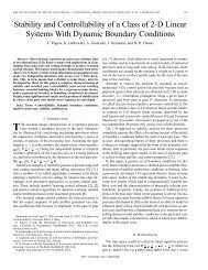 Stability and controllability of a class of 2-D linear systems with ...