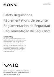 Untitled - Manuals, Specs & Warranty - Sony
