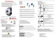 Fall Detector - Bosch Security Systems
