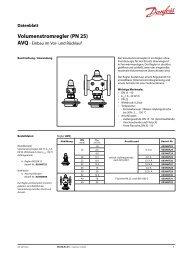 Volumenstromregler (PN 25) - Danfoss
