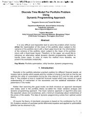 Discrete Time Model For Portfolio Problem Using Dynamic ...