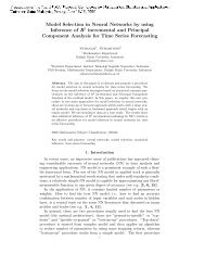 Model Selection in Neural Networks by using Inference of R ...