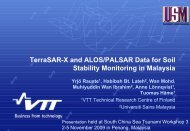 TerraSAR-X and ALOS/PALSAR Data for Soil Stability Monitoring in ...