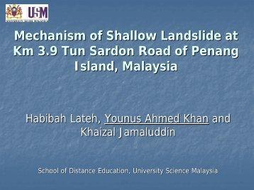 Younus Ahmed Khan - Universiti Sains Malaysia, Penang
