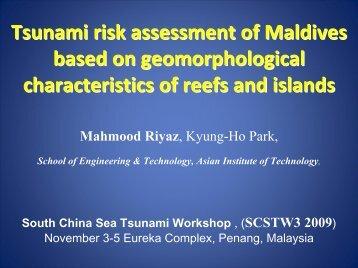 Tsunami risk assessment of Maldives based n geomorphological ...
