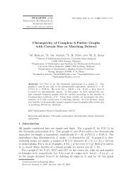 Chromaticity of Complete 6-Partite Graphs with Certain Star or ...