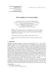Weak Annihilator over Extension Rings - European Mathematical ...