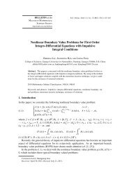 Nonlinear Boundary Value Problems for First Order Integro ...
