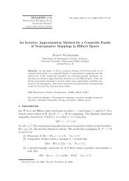 An Iterative Approximation Method for a Countable Family of ...