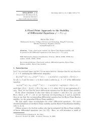 A Fixed Point Approach to the Stability of Differential Equations y ...